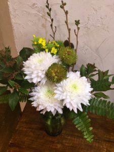 今年最初のお花が届きました☆